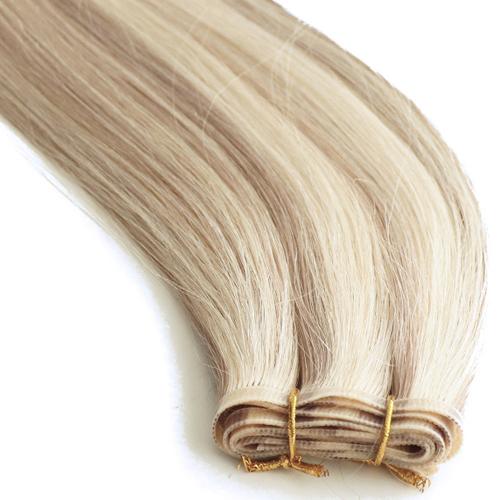 hair weft, hair weave, hair exttensions, human hair extensions, flat silk weft, silk weft, ultra flat weft