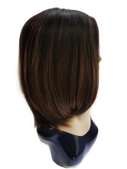 14 Inches Jewish Wigs Dark Brown Balayage