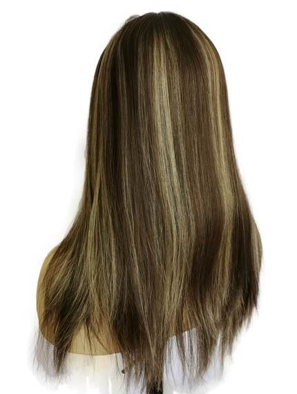 "16"" Silk Toppers Medium Brown Blonde Highlight"