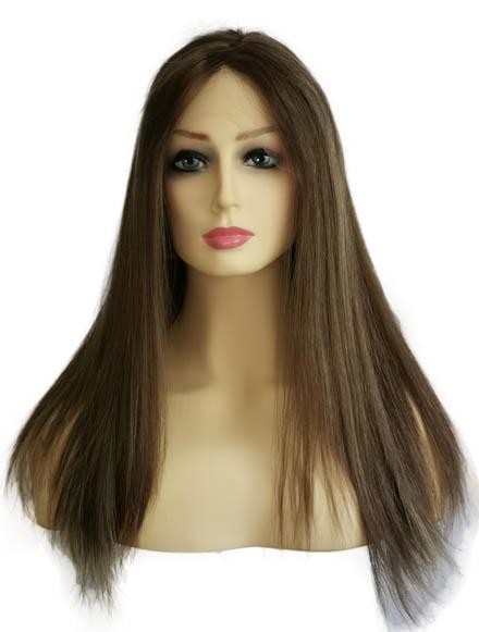 "18"" Jewish Wigs Light Brown Dirty Blonde Balayage"
