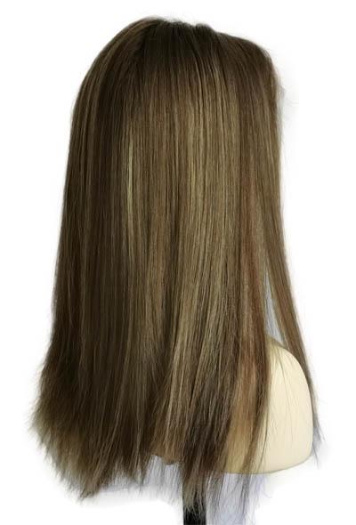 18 Inches Jewish Wigs Light Brown Dirty Blonde Balayage