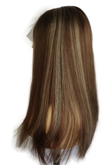 """20"""" Lace Toppers Lightest Brown Bronzed Blonde Highlight"""