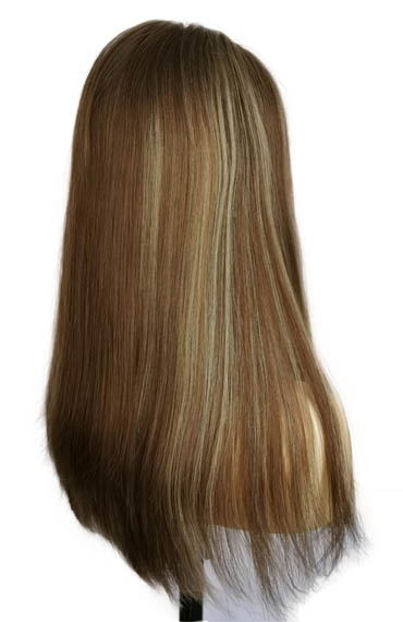 20 Inches Lace Top Wigs Lightest Brown Bronzed Blonde Highlight