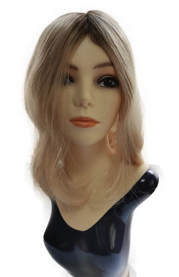 14 Inches Lace Toppers Platinum Blonde with Rooting